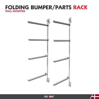 Wall Bumper Storage Rack Front view