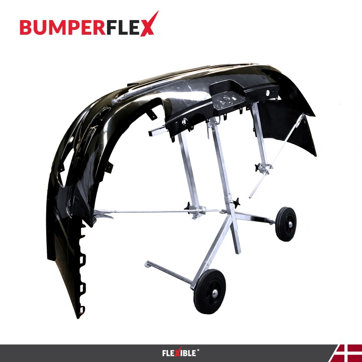 BumperFlex Bumper Stand right side holding car bumper
