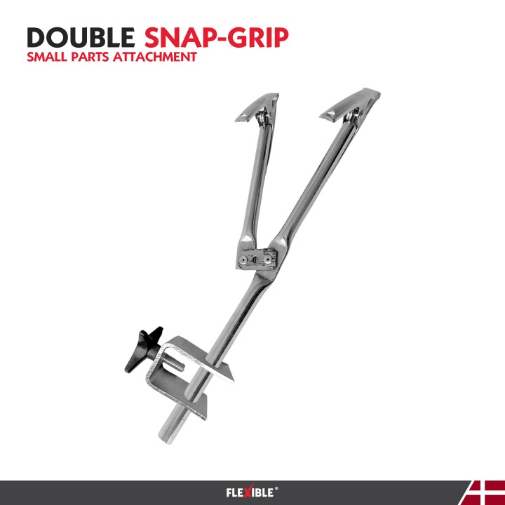 double snap grip paint tool for holding auto body parts