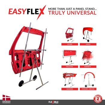 EasyFlex Auto Body Paint Stand holding car door & panels