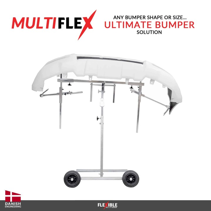 MultiFlex Bumper paint stand with white bumper