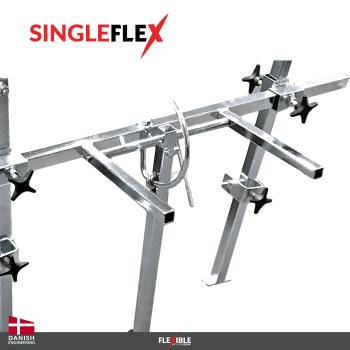 singleflex panel stand turning mechanism
