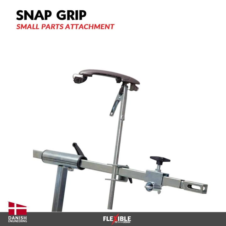 Snap Grip for Auto body paint stand side view