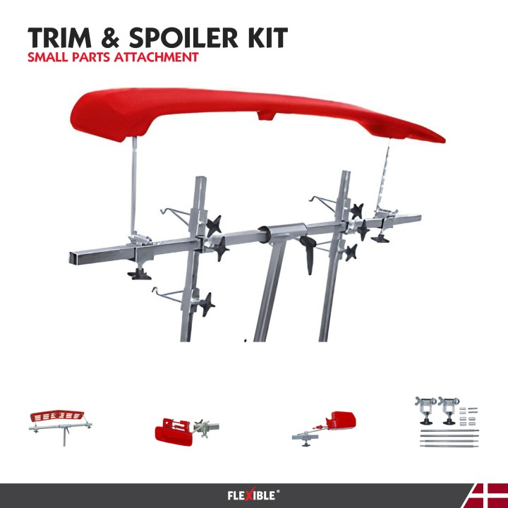 Trim Spoiler paint kit attachment for auto body stand