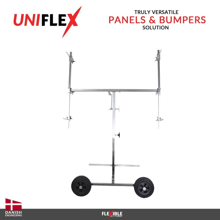 uniflex auto body panel and paint stand Straight on View