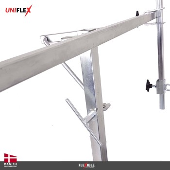 Uniflex paint stand Front turning and locking mechanism