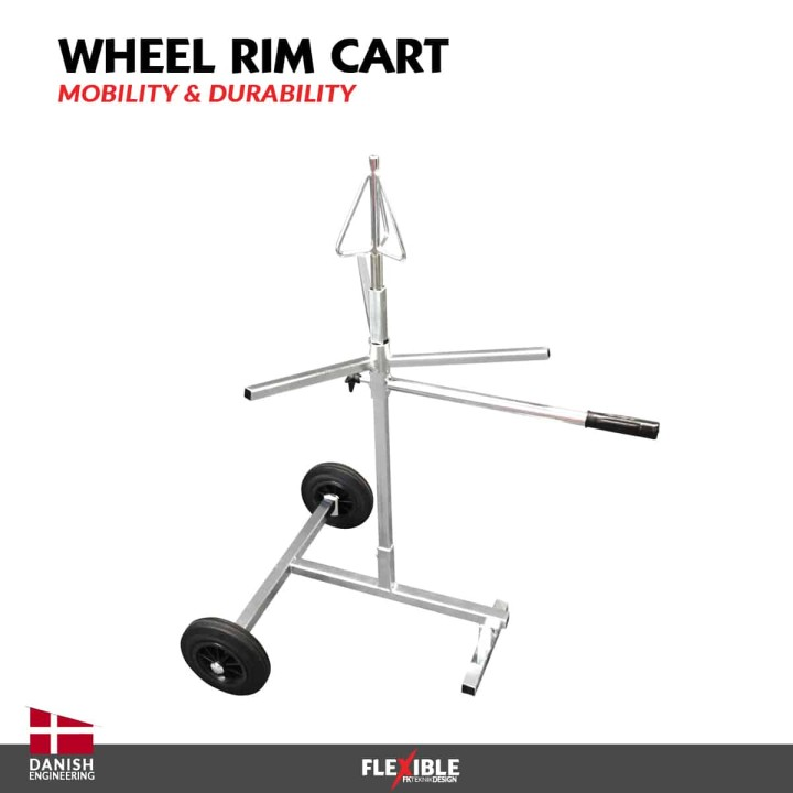 Automotive Wheel Rim Repair Cart
